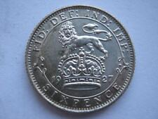 1927 George V silver Sixpence, 1st reverse, UNC.