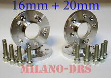 KIT 4 DISTANZIALI RUOTA 16+20mm ALFA ROMEO 147 Bullone CONICO