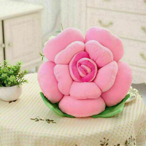 Big Rose Flower 3D Pillows Plush Toy Car Chair Cushion Decor Mother Day Gift