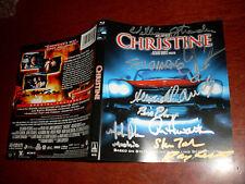 Christine Blu Ray signed by John Carpenter, Alexandra Paul + 9 other cast/crew