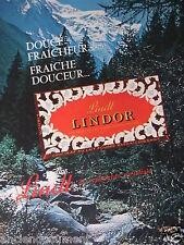 PUBLICITÉ 1964 LINDT LINDOR CHOCOLAT AU LAIT FOURRÉ RAFRAICHISSANT - ADVERTISING