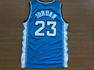 Michael Jordan 23 NORTH CAROLINA TARHEELS Basketball Jersey Blue white and black