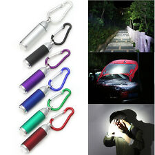 Keychain Keyring LED Flashlight Camping Torch Lamp Light Mini Pocket Portable