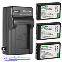 Kastar Battery AC Wall Charger for Olympus BLS-1 PS-BLS1 & Olympus E-PL1 Camera