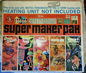 60's Mattel SUPER THINGMAKER PAK Creepy Crawlers Fighting Men Frights Flowers