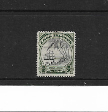 1932 Cook Islands - ½d  Black and Green - Lightly Mounted Mint.