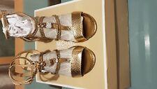 Authentic Michael Kors Nude ANTOINNETTE Padlock Sandals HEELS UK 3 US 5 EU 35