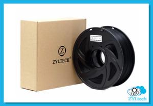 Black ABS 3D printer filament 1.75 mm 1 kg 2.2 lbs
