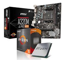 AMD Ryzen 5 3500x + A320M-A Pro Max Mainboard+CPU Kühler Aufrüstkit NEU Händler✅