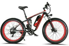 "26"" Red Fat Tire Electric Snow Bike 48V 1000W XF800-RD"