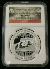 2014 Silver Chinese Panda 1oz .999 NGC Gem Proof - Smithsonian Institute Label