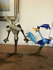 Rare Warner Bros Wile E Coyote and Roadrunner Statues