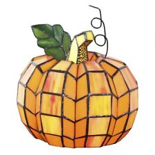 """River of Goods 9"""" H Patch The Pumpkin Stained Glass Accent Lamp"""