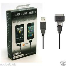 Scosche syncABLE Pro Charge Sync Cable For iPad 2 3 iPhone 4s 30 Pin & Micro USB