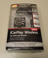 Monster iCarPlay Wireless 1000 FM Transmitter for iPod and iPhone  NEW