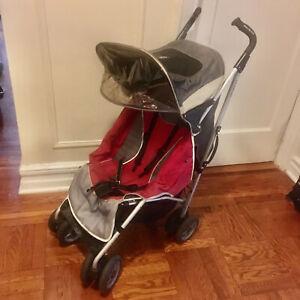 Maclaren Techno XT Grey/Red folding umbrella Stroller, READ