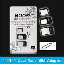4 en 1 set nano adaptador de Tarjeta Micro SIM Aguja móvil LECTOR UNIVERSAL -