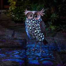 Metal Owl Bird Garden Ornament Patterned Outdoor or Indoor Steel Novelty Animal
