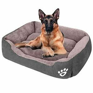 CLOUDZONE Dog Bed Machine Washable Rectangle Breathable Soft Fiber with Nonskid