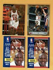 1995-96 Fleer Michael Jordan #323 + 3 Fleer Jordan lot all-star NM