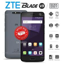 New Factory Unlocked Sealed ZTE Blade V8 Grey 32GB Dual Cam Android Mobile Phone