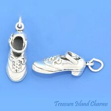 Irish Hard Tap Dance Dancing Mary Jane Shoe 3D .925 Solid Sterling Silver Charm