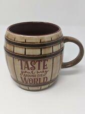 Taste Your Way Around The World Food And Wine 25th Barrel Coffee 00006000  Mug Disney New