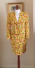 Authentic Christian Dior Vintage Yellow Floral Suit Jacket Skirt FR38 UK10 Fab!