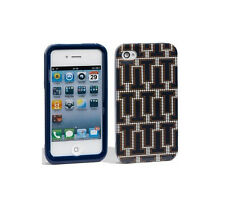 Tory Burch iPhone 4 4s Hardshell Case Logo T Navy Blue BRAND NEW