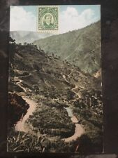 Mint Us Philippines Real Picture Postcard Rppc Cover Zig Zag Road Baning Pi
