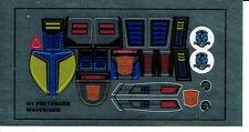 TRANSFORMERS GENERATION 1, G1 AUTOBOT PARTS WAVERIDER REPRO LABELS / STICKERS