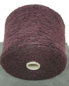 Wolle Garn Stricken weben Bouclé burgund schurwolle-mixlhandstrickgarn 1kg b48