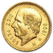 1908 Mexico Gold 10 Pesos AU/BU - SKU #27692