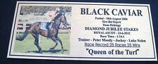 BLACK CAVIAR Gold Plaque  ROYAL ASCOT Queen of the turf 22 wins Straight