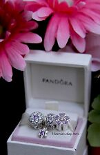 Authentic Pandora Spring Collection 2016 Forget Me Not Purple CZ Charm Set