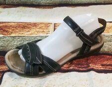 Clarks artisan Wmn sz 10 Black Leather Open Toe Comfort sandals Shoes