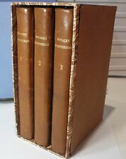 Voyages D' Antenor. Lantier, Belin, 3 V. demi cuir …
