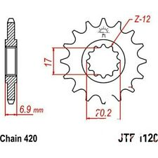 Zahnrad Ritzel 12Z Teilung 420 front sprocket 12tooth pitch RS-1 Performance RS-