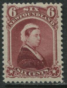 Newfoundland QV 1894 6 cents carmine lake mint o.g. hinged