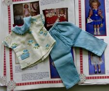 SHIRLEY TEMPLE IDEAL BLUE FRUIT PAJAMA PANTS SET FOR ST-12 DOLL / EXTREMELY RARE