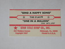 x1 The O'Jays Jukebox Title Strip Sing A Happy Song & One In A Million PHILLY