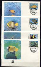 s3698) MALDIVE ISL. 1986 MNH** WWF, fish 4v FDC