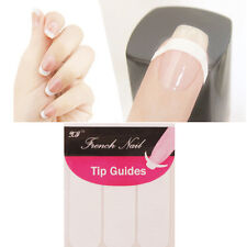 2 Sheets White Strip Manicure Guide Sticker Nail Art French Tips Toes Decoration