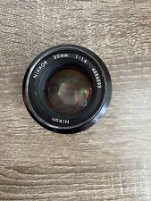 Mint Nikon AIS 50mm f1.4 AI-S Ais Standard MF Lens w/ Caps
