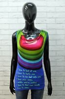 Maglia Desigual Donna Taglia XS Maglietta Blusa Shirt Polo T Shirt Canotta Woman