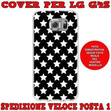 CUSTODIA COVER MORBIDA IN TPU SILICONE PER LG G4S e LG G4 BEAT STELLE BIANCHE