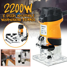 """2200W  0.25"""" Electric Hand Trimmer Wood Laminate Palm Router Joiners Tool"""