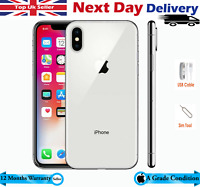 Apple MQAG2B/A iPhone X - 256GB - Silver (Unlocked) A1901 A Grade Condition