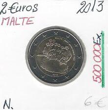 2 Euros - MALTE - 2013 // Qualité: Neuve (500 000 Ex)