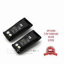 2x Nntn4496 Battery for Motorola Cp040 Cp140 Cp150 Cp200 Cp340 Cp360 Cp380 Pr400